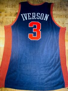 Allen Iverson Trikot Reebok Hardwood Classics blau Size L Vintage 2003 Nats