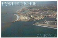 Aerial View of Port Hueneme California Beach City Ventura County Modern Postcard