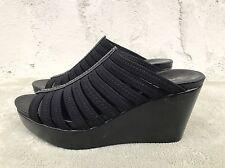 EUC Donald J Pliner Jackie Black Women US 8.5 M Black Wedge Sandal