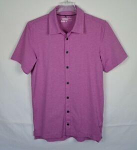 NIKE GOLF TOUR PREMIUM Dri-Fit Polo Shirt Heather Purple Men's Small