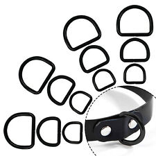 Black Metal D Ring Buckles 20/25/32mm Size for Hand Bag Webbing Collars Clothes