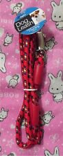 Rope Dog Leash - Red - Metal Clip - We combine shipping! pet puppy lead - USA