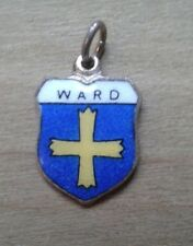 Ward Coat of Arms / Family Crest Silver Plated Enamel Charm