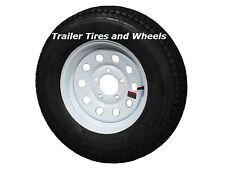 "*2* 175/80D13 LRC 6 PR AR Bias Trailer Tire on 13"" 5 Lug White Mod Steel Wheel"