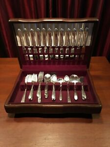 "Vintage Oneida STERLING Silver ""HEIRESS"" 81 Pc. Place Settings + Servers"