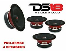 "(4) DS18 PRO-X6MSE 1800W 6.5"" Midrange Full Range Speaker Loud Sealed Back 8 Ohm"