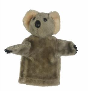 "Vintage Dakin Koala Hand Puppet 1976 Plush Bear Tan 10"" Educational Play"