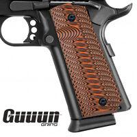 Guuun 1911 Grips Full Size Ambi Custom G10 Grip Claw Mark Texture fit IPSC IDPA