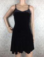 Betsey Johnson Vintage Velvet Mini Dress Sz Small S Black 90s