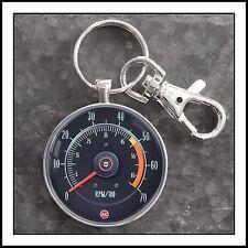 Vintage Chevy Camaro Tachometer Photo Keychain