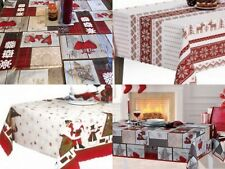 CHRISTMAS TABLE CLOTHS COVERS PVC Wipe Clean 3 Designs, 3 Sizes RECTANGLE