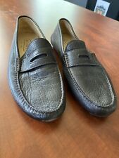 Coach Men's Shoes Size 10M Driving Shoes Penny Loafers Brown Soft Pebble Leather