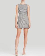 Alice + Olivia Eli Stripe Shimmer Cutout Back Cocktail Mini Dress.NWT Sz.10