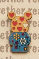 Disney Pin Vinylmation Jr. Mystery Pack #5 This and That Hearts and Flowers