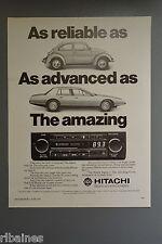 R&L Ex-Mag Advert: Hitachi Radio, VW Beetle, Lagonda Car