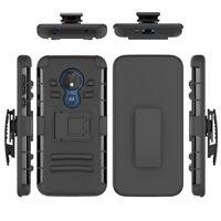For Motorola Moto G7 Power / Moto G7 Supra Belt Clip Holster Phone Cover Case