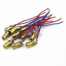10PCS 650nm 6mm 5V 5mW Laser Dot Diode Module Red Copper Head Mini Pointer New