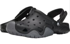 Men Crocs Swiftwater Clog 202251-070 Black Charcoal Brand New Size 8 US