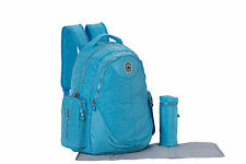 SoHo Collection, London 3 pieces Diaper BackPack Set (CERRULEAN BLUE)
