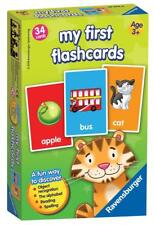 My First Flash Card Game Ravensburger Flashcards 34 Cards W/ Picture & Word Toy