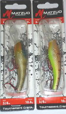 Matzuo Tournament Crankbaits (Lot of 2-Wt Perch/Bluegill)