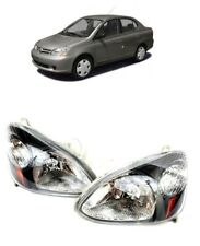 For 2003 2005 Toyota Echo Black Headlights Set Headlamps Lights 03 04 05