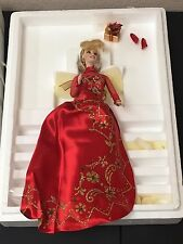 HOLIDAY GIFT Porcelain Barbie Collection MATTEL #12697 RED Christmas 1998
