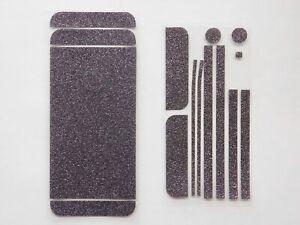 2x Glitzerfolie Aufkleber Skin Lila für iPhone SE 5S 5