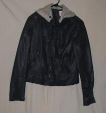 Bongo Size med Bomber Jacket Black Faux Leather