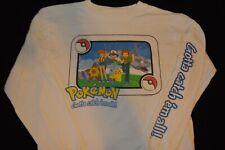 Rare VTG Pokemon Shirt Official 1999  Long Sleeve Pikachu Ball Youth  XL