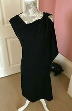 3.1 PHILLIP LIM DESIGNER BLACK MINI SILK DRESS  SIZE 4