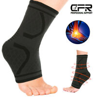 Ankle Support Compression Plantar Fasciitis Sleeve Basketball Sport Foot Wrap US