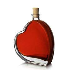 Brand New Empty Heart Shaped Glass Bottle 100ml Storage Love Bottle Airtight