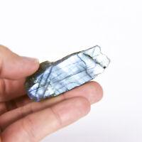 Natural Rough Labradorite feldspar Crystal Specimen 1 polished side 0010