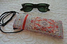 Floral Kilim Patterned SunGlasses EyeGlasses Fabric Case Cover with Long Strap