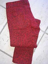 Pantalon Cimarron rouge 38 slim