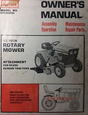 "Sears 10/6 Tractor Suburban 42"" Mower Deck Owner & Parts Manual 917.253530 12/6"
