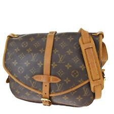 Auth LOUIS VUITTON Saumur 30 Shoulder Bag Monogram Leather Brown M42256 35SB154