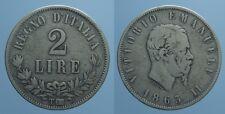 REGNO D'ITALIA VITT.EMANU.II RARO 2 LIRE 1863 TORINO-VALORE qBB