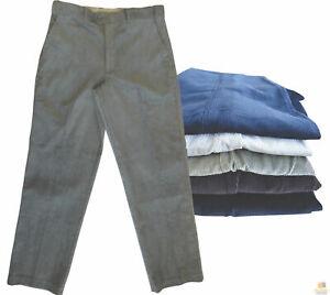 "MENS CORDUROY PANTS Trousers Cords Casual STRETCH COTTON Size 32""-44"" Adjustable"
