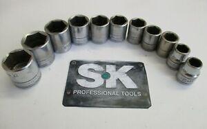 S-K Tools 11 Pc 3/8 Drive 6 Point Metric Sockets
