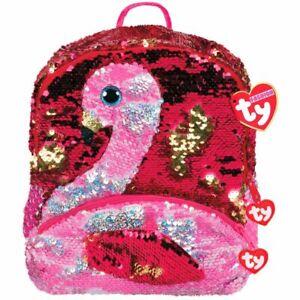 Ty Flippables Sequin Flamingo -gilda- Backpack+Gift Bag