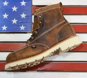 "Thorogood 6"" American Heritage Safety Steel Toe Work FACT 2nd Boot USA 804-4375"