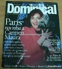 EL DOMINICAL Nº6 CARMEN MAURA Portada+7 Pg '94 TERENCE TRENT D'ARBY DEBRA WINGER