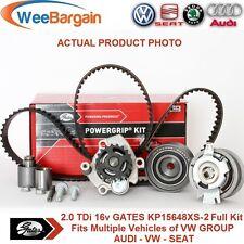 AUDI VW SEAT 2.0 TDI 16v Engines GATES KP15648XS-2 Timing Belt Kit Water Pump