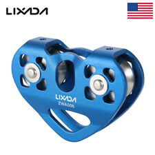 30Kn Climbing Rock Heavy Duty Zip Line Cable Trolley Fast Speed Pulley Blue Usa
