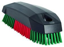 Vikan Nail Brush Hard, Upholstery Brush, Detailing Valeting - Red/Green - 644052