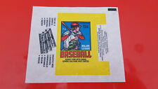 1978 OPC O-Pee-Chee Topps Baseball Opened Wax Pack Wrapper NICE!