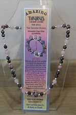 """Plus Free book and Bookmark Taurus Hand-made 18"""" Astrolgical Gemstone Necklace"""