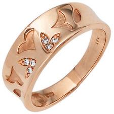 Ringe mit Edelsteinen aus Rotgold echten 58 (18,4 mm Ø)